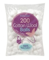 400 Cotton Wool Balls - 2 Packs of 200 by Cotton Tree - 1