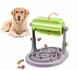 Alsanda Interaktives Hundepielzeug Futter Napf 2in1 für Hunde und Katzen | Gesunder Snackspender | Intelligenzspielzeug für Hunde | Mit Anti Schling Napf | BPA-Frei - 1