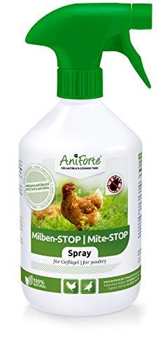 AniForte Milben - Stop Spray 500 ml - Naturprodukt für Geflügel gegen Milben und Parasiten als Umgebungsspray, Kontaktspray, bei akutem Befall und Vorbeugende Maßnahme, Natürlich effektiv - 1