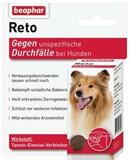 beaphar Reto Durchfalltabletten, zur Behandlung von Durchfall und Verdauungsbeschwerden bei Hunden, 30 Tabletten - 1