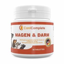 CaniComplete - Magen und Darm. Durchfall Tabletten. Verdauungshilfe für Hunde und Katzen. Bei Resporbtionsstörungen des Darms oder nach Wurmkuren - mit Bentonit - 1