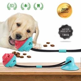 Charminer Hundespielzeug mit Saugnapf,Multifunktions Spielzeug Pet Molar pet Toy chew Spielzeug für Hunde und Katzen - 1