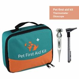 Erste-Hilfe-Set für Haustiere, Tierärztliche Erste-Hilfe-Tasche für Hunde, Katzen, Kaninchen, Tiere, mit Thermometer, Otoskop, Perfekt für Häusliche Pflege und für Notfälle im Freien - 1