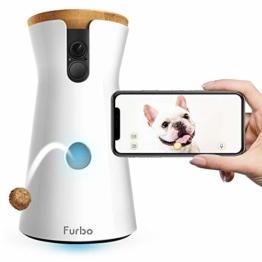 Furbo HUNDEKAMERA: Full HD WiFi Haustierkamera mit Leckerli Ausgabe, 2-Wege-Audio, Nachtsicht und Bell-Alarm (bekannt aus VOX hundkatzemaus) - 1