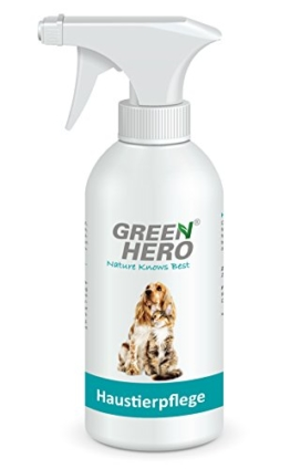 Green Hero Haustierpflege für Hunde- und Katzen, 500 ml, Pflegt die Haut bei Juckreiz, Entzündungen, Infektionen, Milben, Hefepilzen, Räude, Reizungen und Ekzemen - 1
