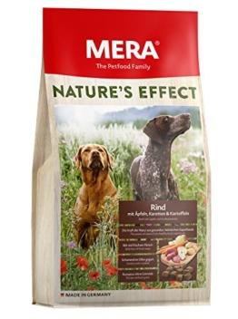MERA Nature's Effect, Getreidefreies Hundefutter, Premium Trockenfutter für Hunde mit Rind, Äpfeln, Karotten und Kartoffeln - 1