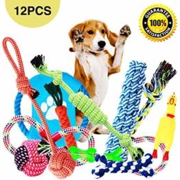 Parner Hundespielzeug, 12pcs Kauspielzeug Interaktives Spielzeug Baumwollknoten Spielset Seil Spielzeug für Kleine mittlere große - 1