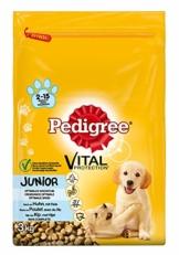 Pedigree Hundefutter Trockenfutter Junior mit Huhn und Reis, 1 Beutel (1 x 3kg) - 1