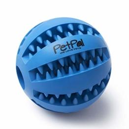 PetPäl Hundeball mit Zahnpflege-Funktion Noppen Hundespielzeug aus Naturkautschuk - RobusterHunde Ball Ø 7cm - Hundespielball für Große & Kleine Hunde - Kauspielzeug aus Naturgummi für Leckerli - 1