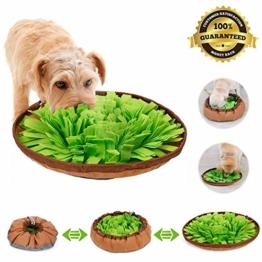 Sunshine smile Hund schnüffelteppich intelligenzspielzeug,Schnüffelrasen Hundespielzeug Fördert Natürliche Nahrungssuche,Hund riechen trainieren,schnüffeldecke (Grün) - 1