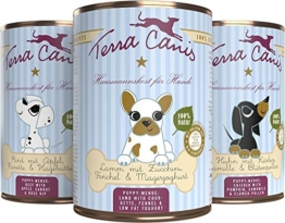 Terra Canis Welpe 6 x 400g Testpaket Hundefutter für Welpen Hausmannskost für Hundewelpen Größe 6 x 400g - 1