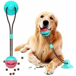 VZATT Hundespielzeug mit Saugnapf, Hund Molar Bite Spielzeug Saugnapf Hundespielzeug, Multifunktions Hundespielzeug Ball für Hund Zahnreinigung Spielzeug, für Backenzahn, Zahnreinigung, Spielen - 1