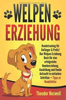 Welpenerziehung: Hundetraining für Anfänger & Profis! Das Welpen Erziehung Buch für eine erfolgreiche Hundeerziehung, Ausbildung und Hunde Aufzucht in einfachen Schritten + Tipps zu Hundefutter - 1